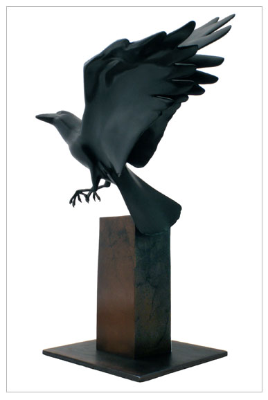 "Fledgling - © 2012 Kristine Taylor,Bronze, edition of 15, 19""H x 13""L x 10""W"