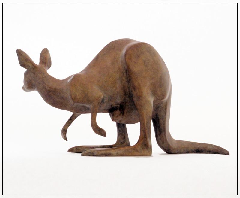 "Kangaroo - © 2011 Kristine Taylor, Bronze, edition of 15, 5.5""H x 10""L x 4""W"