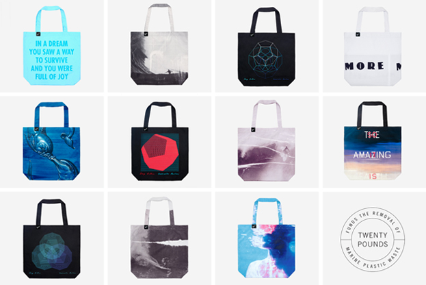 PARLEY OCEAN BAGS: REMOVE 20 POUNDS OF PLASTIC WASTE WITH OUR ARTIST SERIES