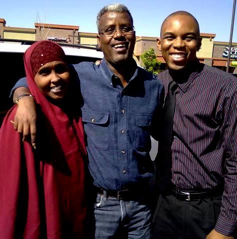 Celebrating US citizenship with Abdi and Halima