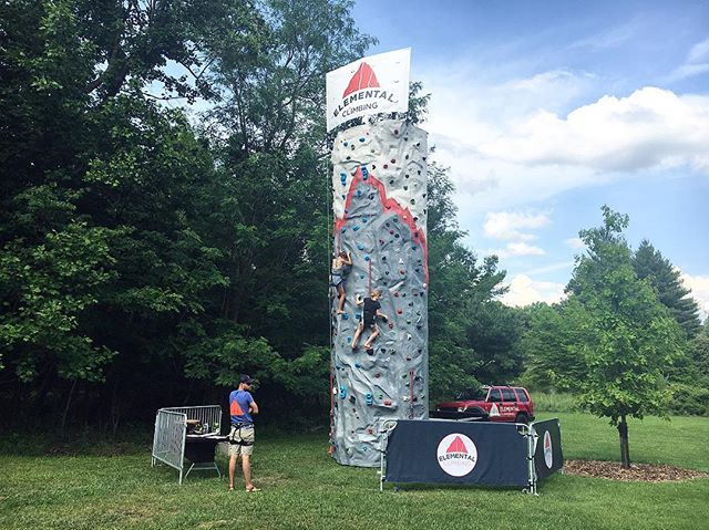 Had a blast  @jeffersonmemorialforest's Forest Fest this weekend! Our final climbers of the day sent it on the speed routes to close out a full day of climbing, sunscreen, and bluegrass. We love partnering with organizations like JMF and @loumetroparks to bring climbing to the people and to help grow the sport in our city. Send us a message to find out how climbing can be a part of your next event.  Shout out to Jason Crigler for helping run the wall while Blake was in Colorado!  #climbing #climbelemental #louisvillelocal