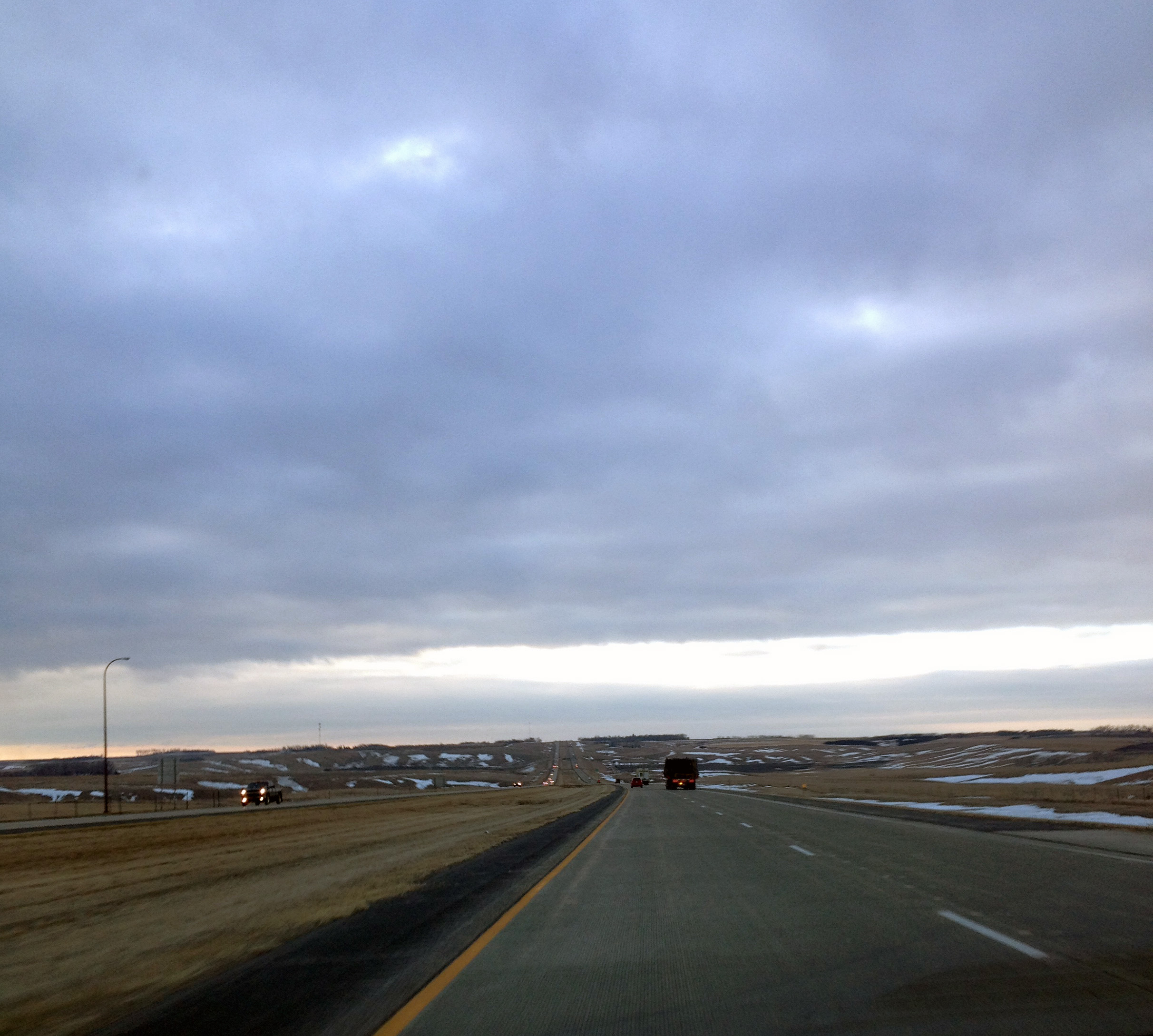 DAY #2. South Dakota. Heading south in the early morning on I-29.