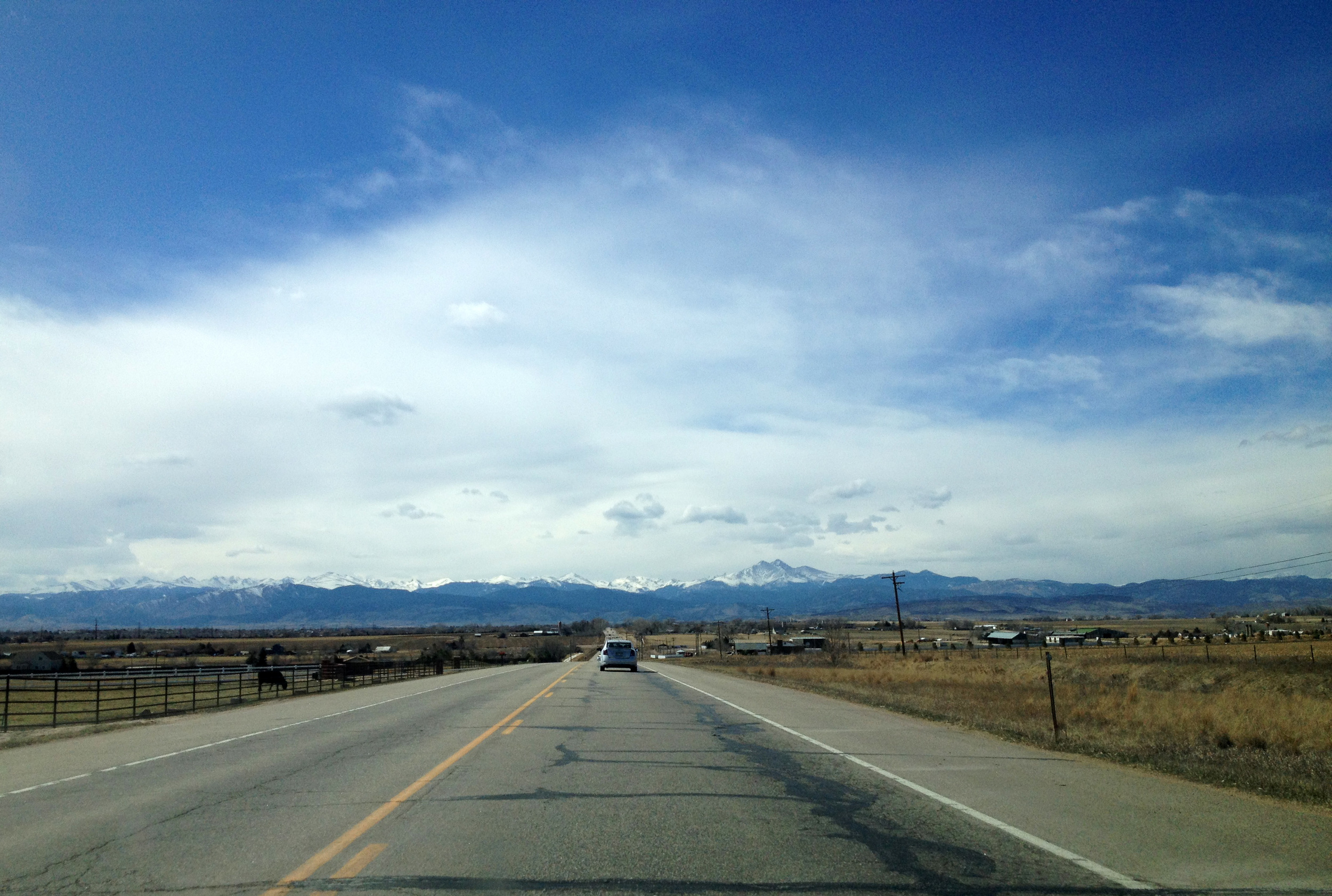 The Front Range. I love these mountains.