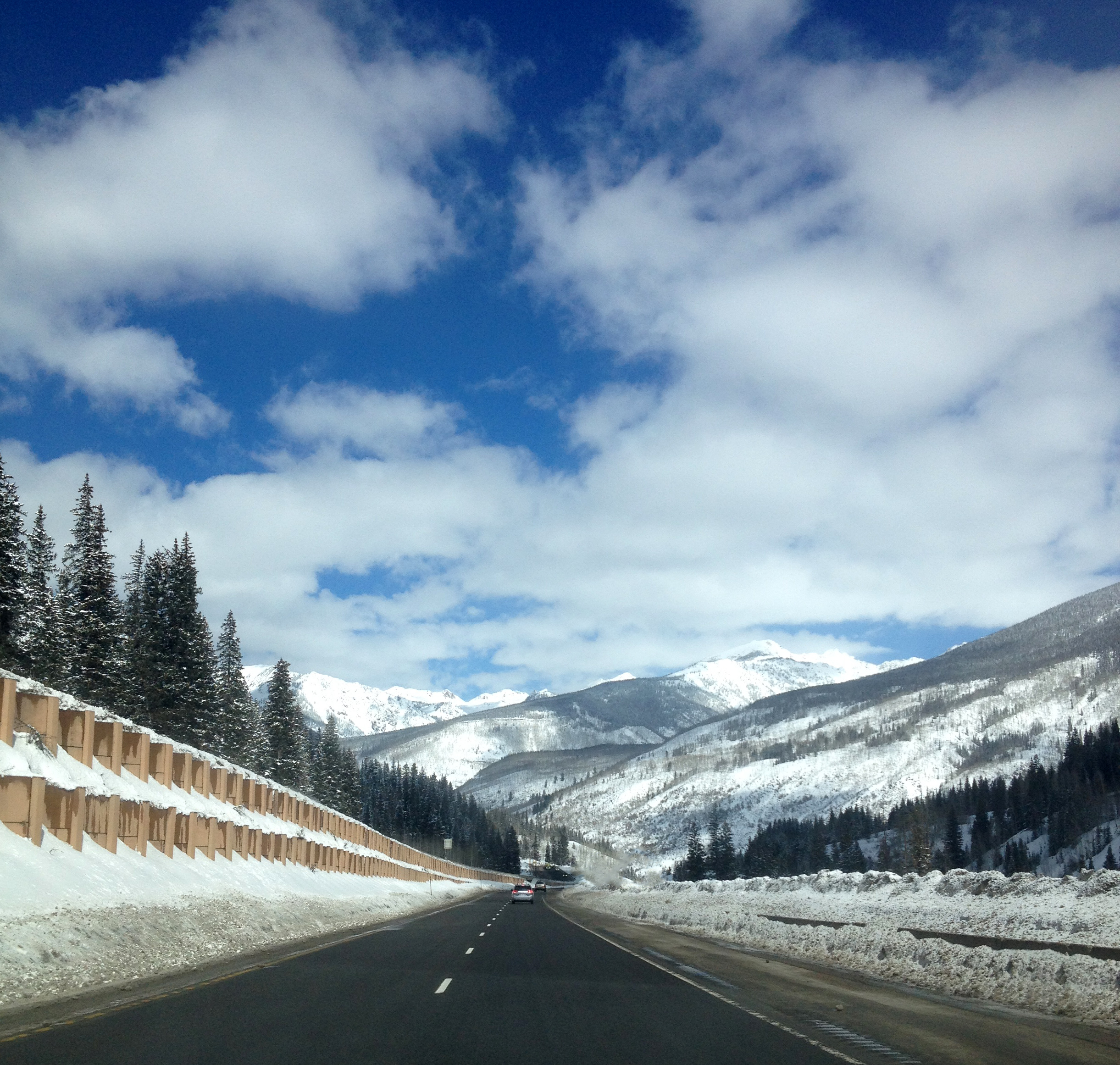 Leaving Colorado. Somewhere around Vail Pass.