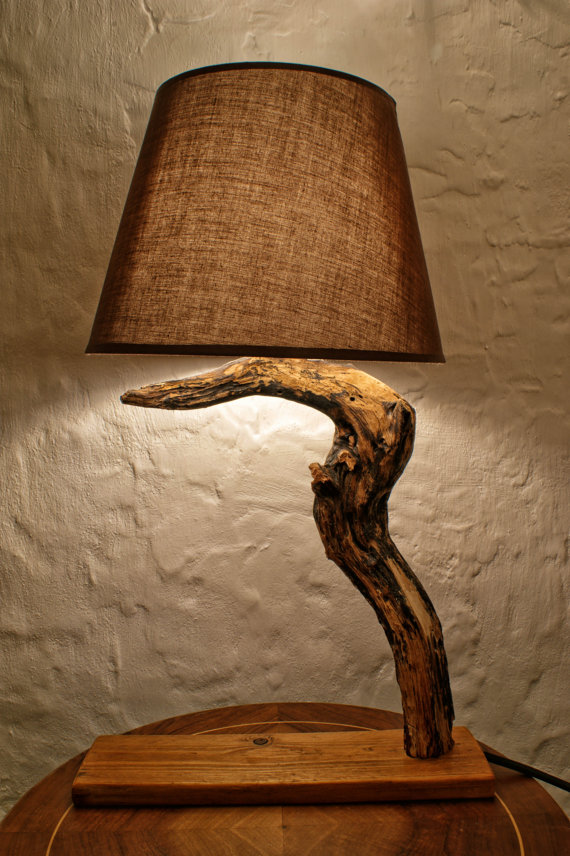 Driftwood Lamp from Etsy Seller MarzaShop