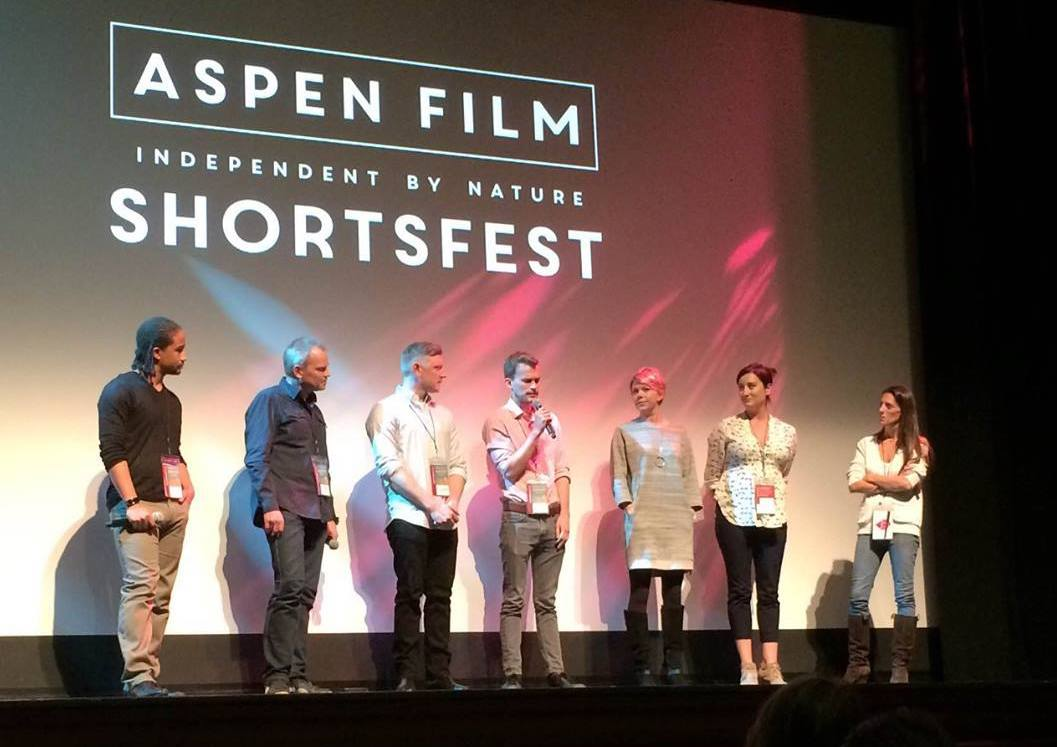 Will and Ian Scott McGregor at a talkback for Aspen Shortsfest 2016, where their film First Night Out played.