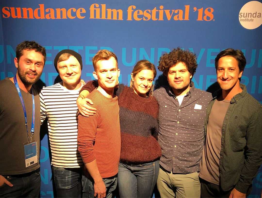 Will with the cast and crew of The Adulterers, which he edited and post supervised, at the Sundance Film Festival, 2018.
