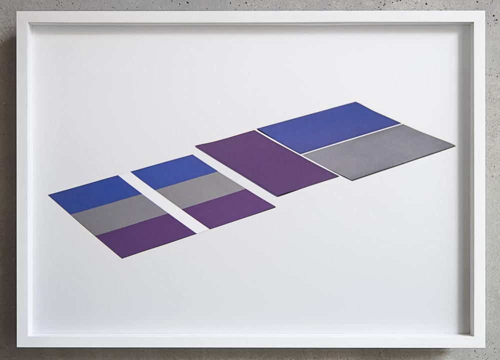 Three Colors, Pigment-Inkjet-Print on Sihl Backlitfilm WR145 matte, framed in maple light white 10/35