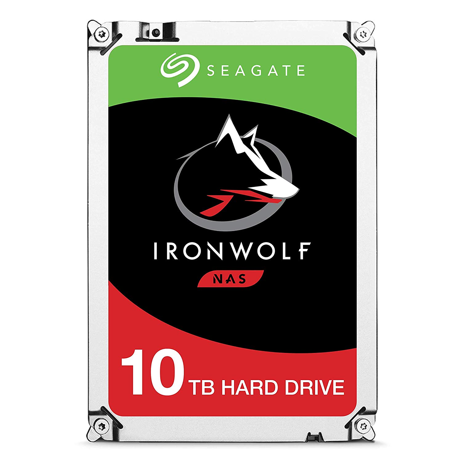 Seagate 10TB IronWolf NAS SATA 6Gb/s NCQ 256MB Cache 3.5-Inch Internal Hard Drive