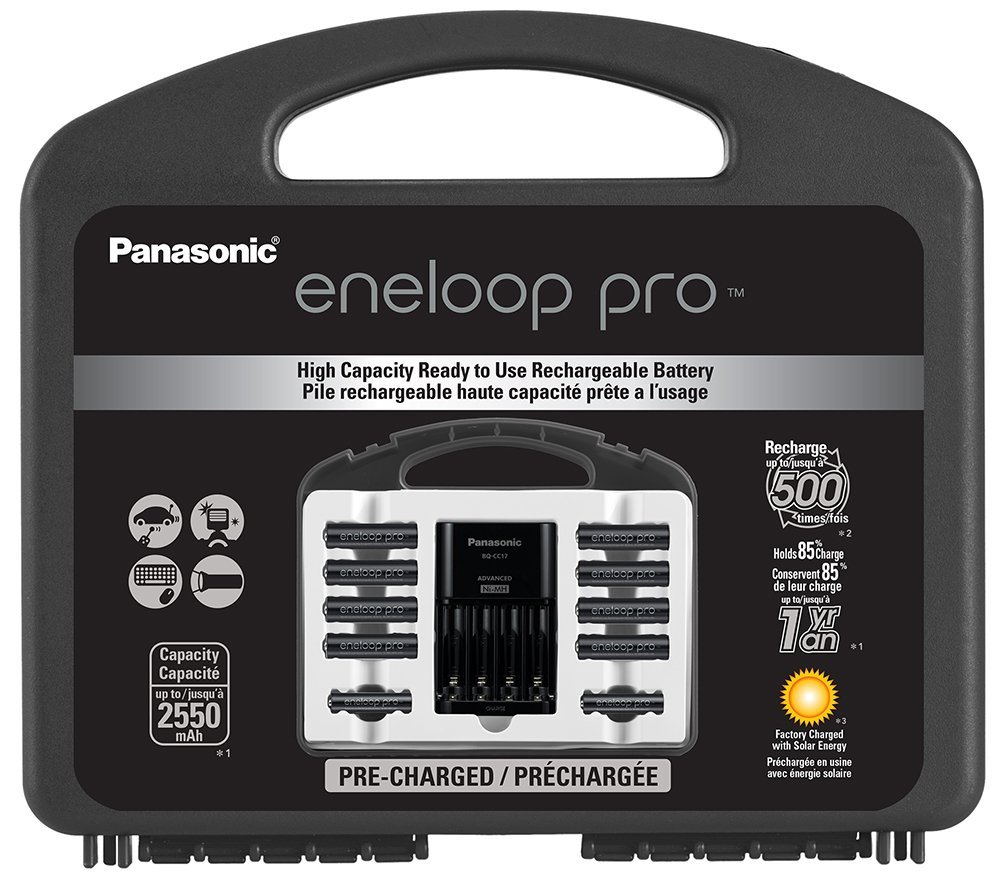 Panasonic Eneloop Pro High Capacity Power Pack, 8AA, 2AAA, with Individual Battery Charger