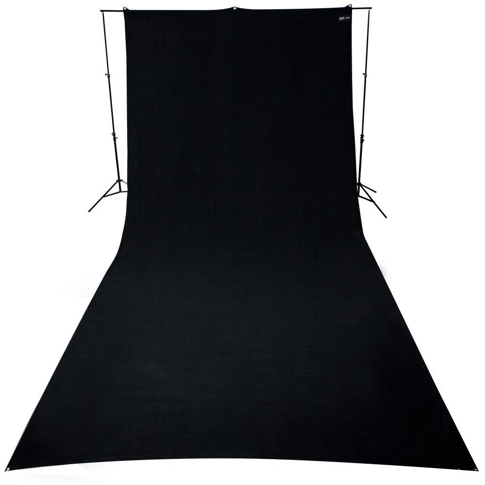 Westcott 9 x 20' Wrinkle-Resistant Polyester Backdrop (Rich Black)