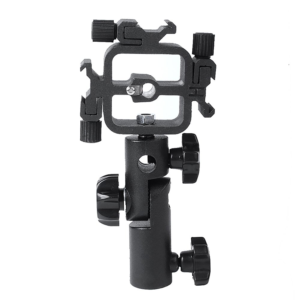 Hakutatz Triple Hot Shoe Mount Adapter Flash Bracket