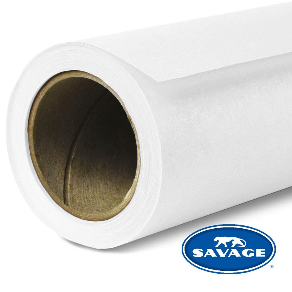 Savage Widetone Seamless Background Paper (#01 Super White, 107 in x 36 ft)