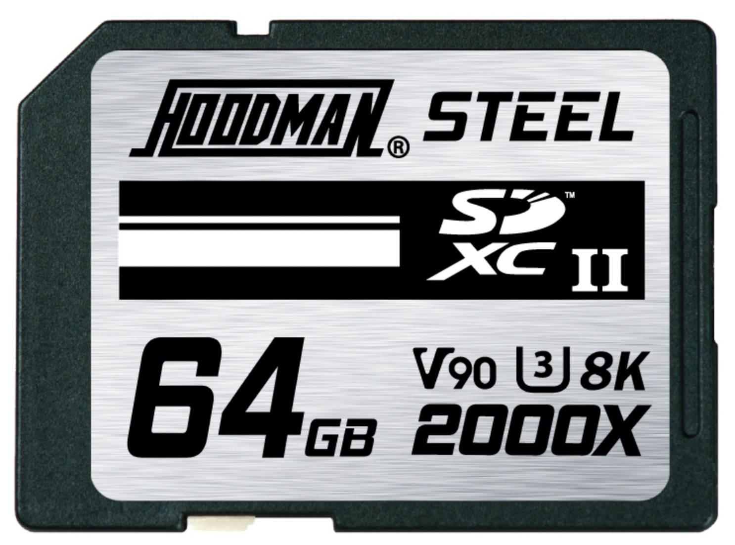 Hoodman Steel SDXC UHS-II 64GB Class 10, U3, 2000x Ruggedized Memory Card