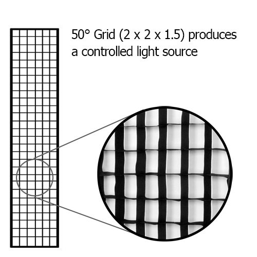 "Fotodiox Pro Eggcrate Grid for 12x56"" Softbox"