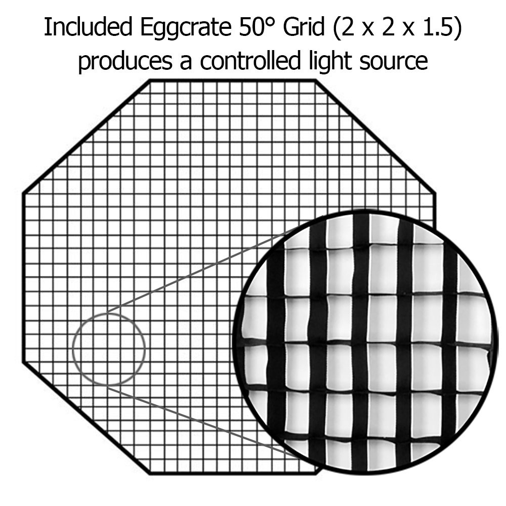 "Fotodiox Pro Octagon Eggcrate Grid for 60"" Softbox"