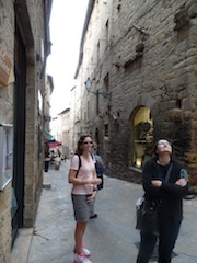 Alli and Candy in Volterra