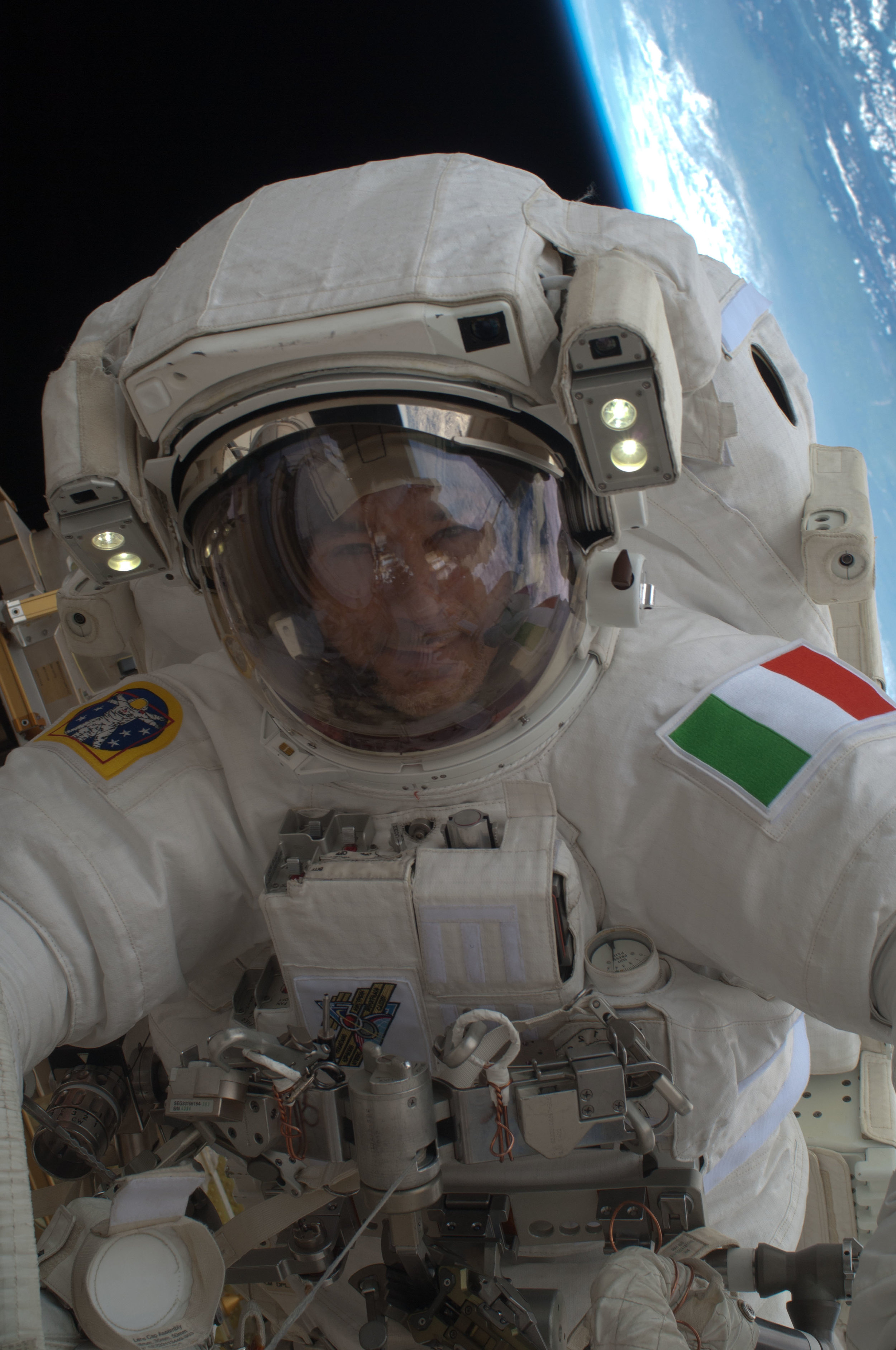 Luca Parmitano during a space walk in 2013.