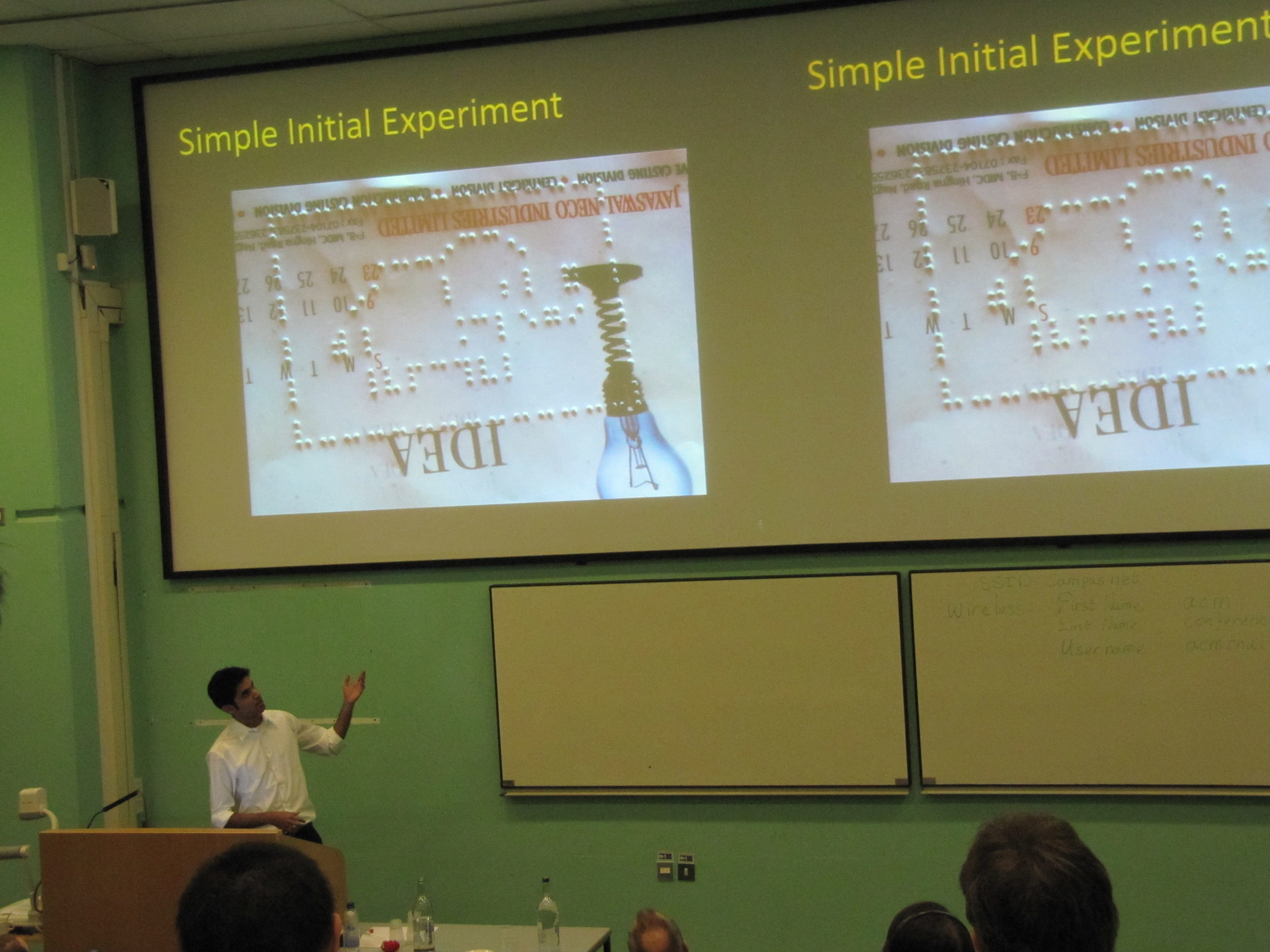 Presenting our work at the ACM DEV 2010 conference at the University of London, UK.