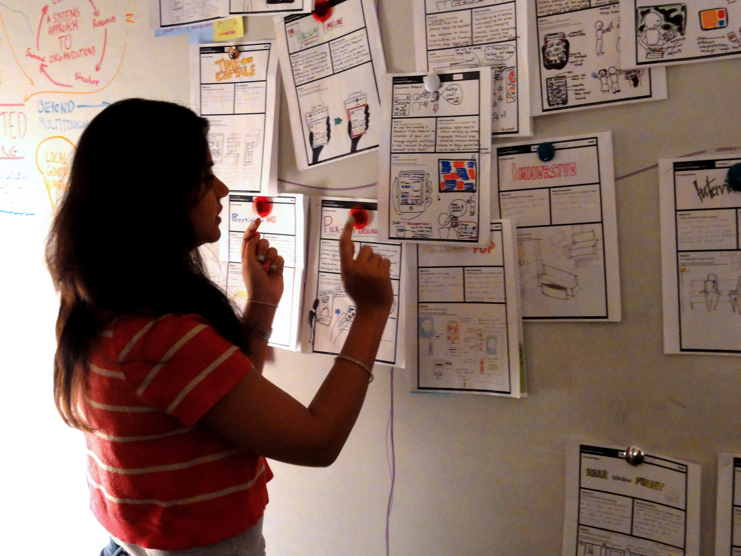 Quick idea sketches, coupled with brief value props, helped our team discuss and evaluate design concepts.