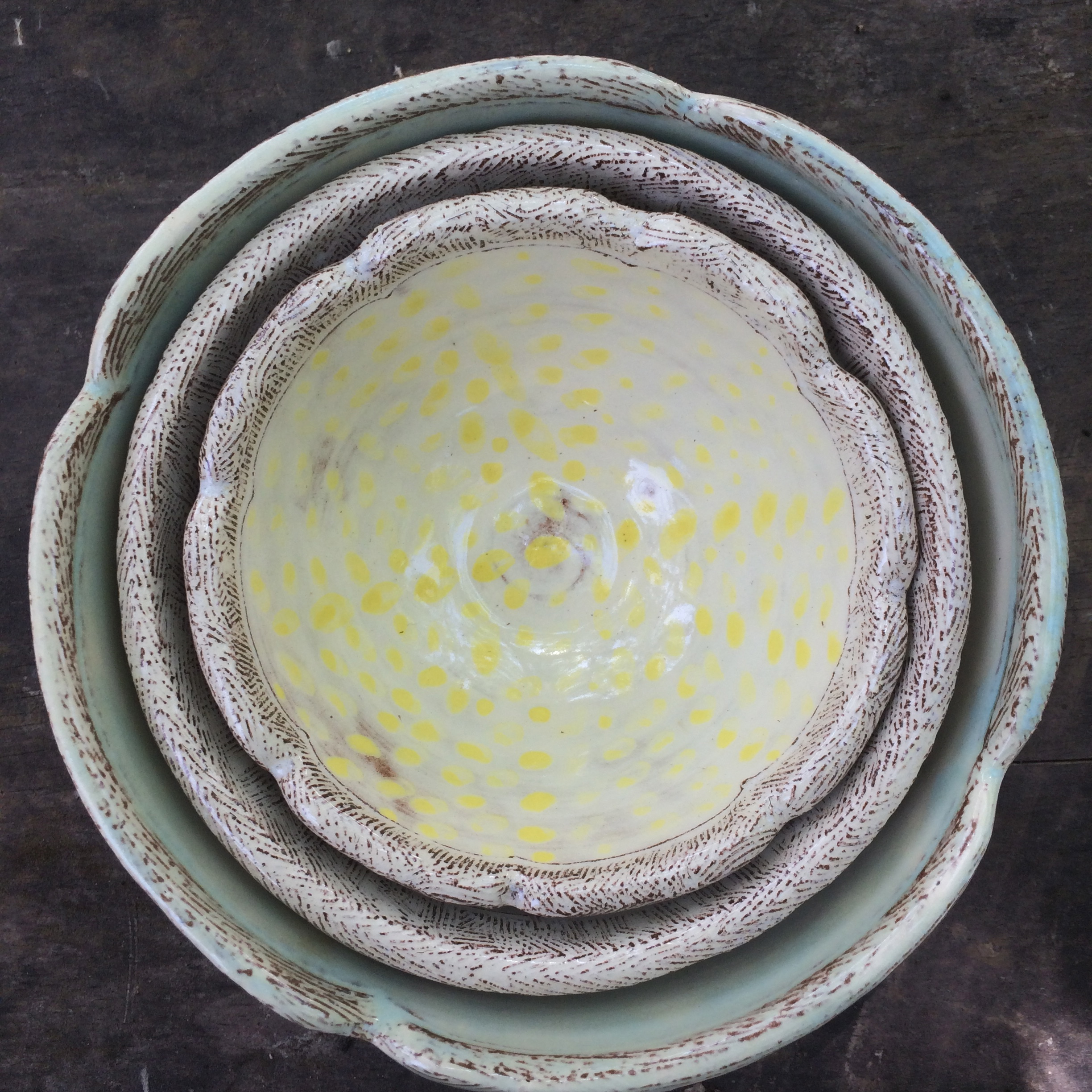 New Bowl Sizes, and one more coming soon. Tiny, Small, Medium and soon Large. A bowl for every occasion.