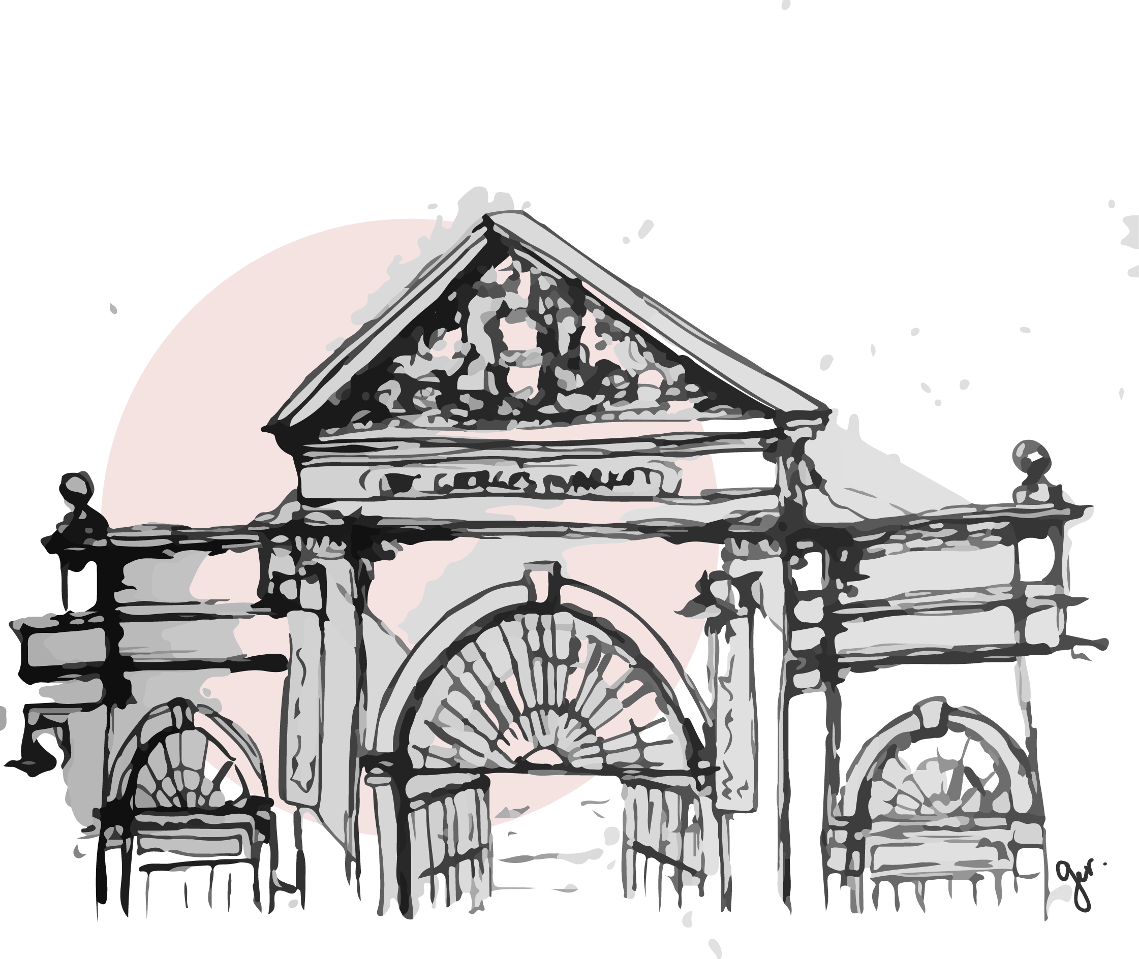 ST.GEORGE'S MARKET sketch by G