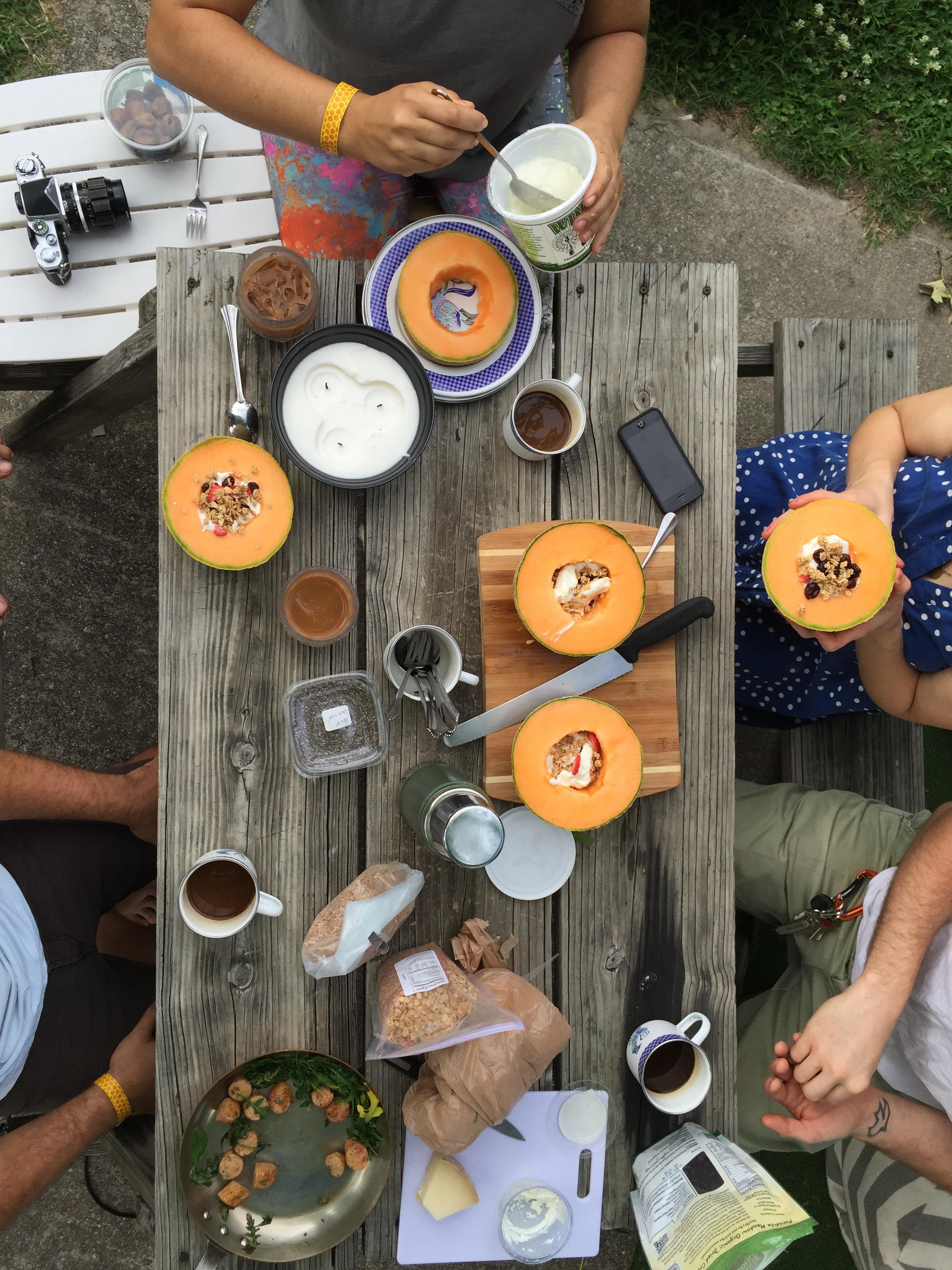 Cantaloupe Bowls