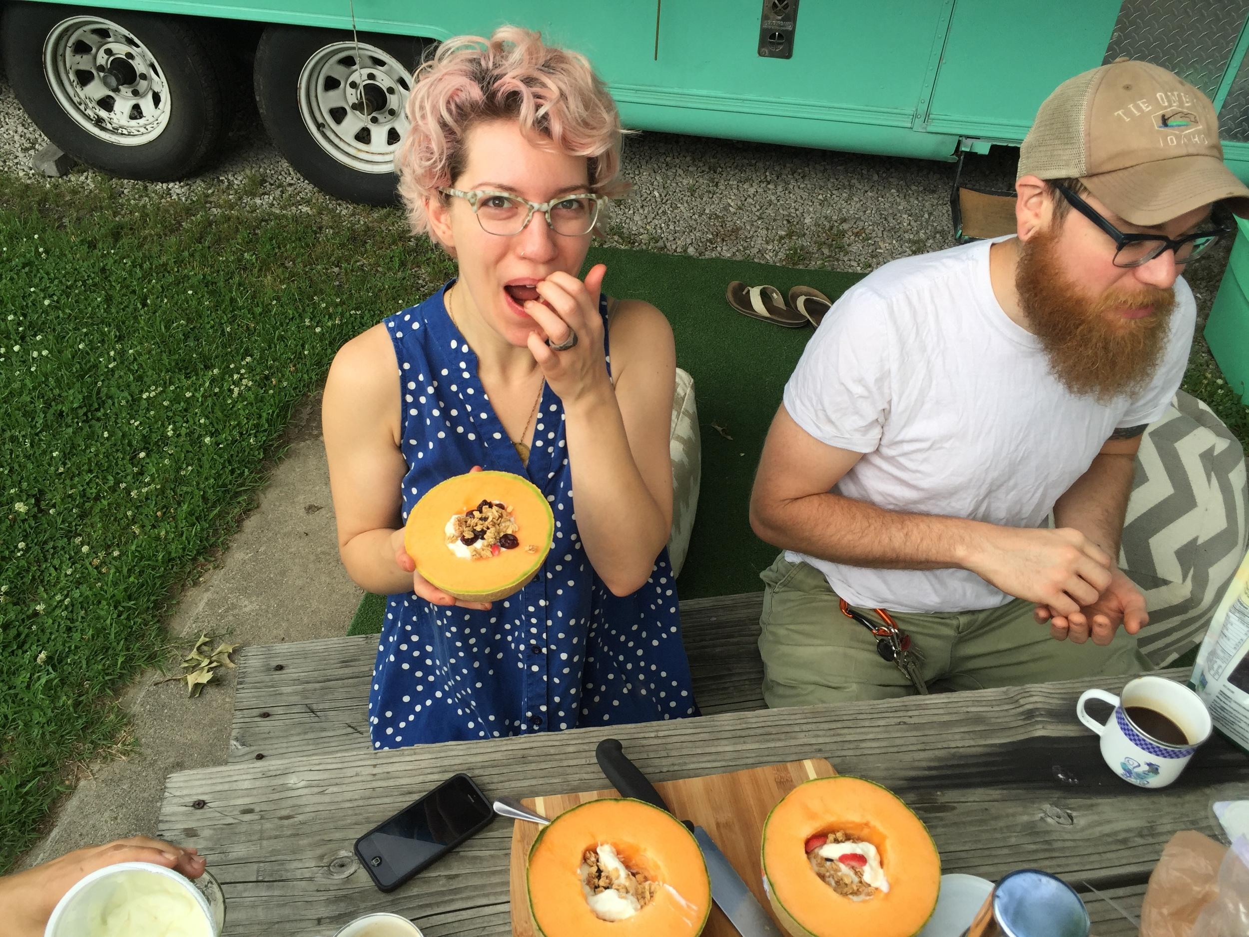 Nico and the Cantaloupe Bowls