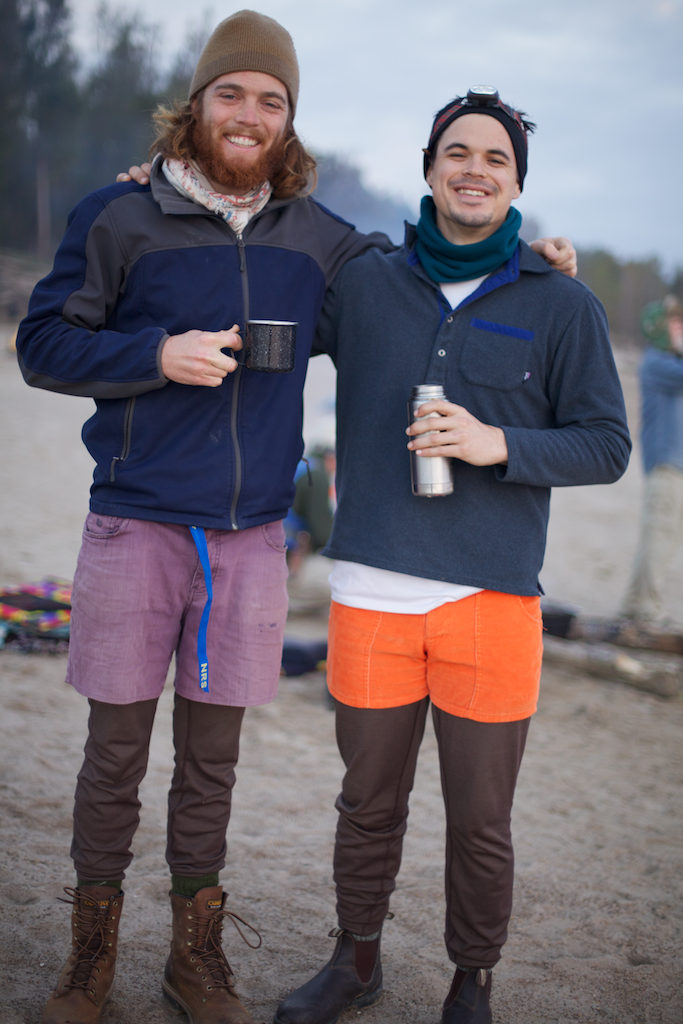 Chris Wolf E. Staudinger and I, connected by more than just Patagonia Capilene 3 Baselayers and short, colorful shorts. 2013.