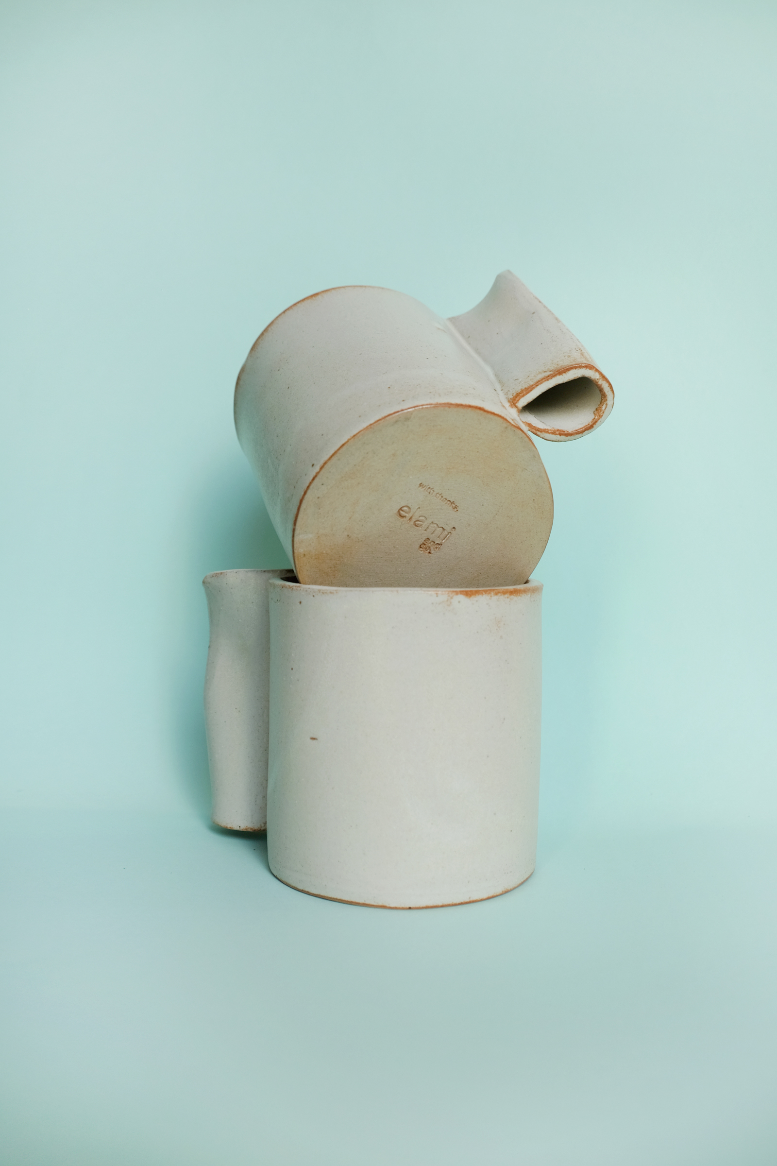 Our limited edition Elami and Co mugs created with Sari Api Ceramics.