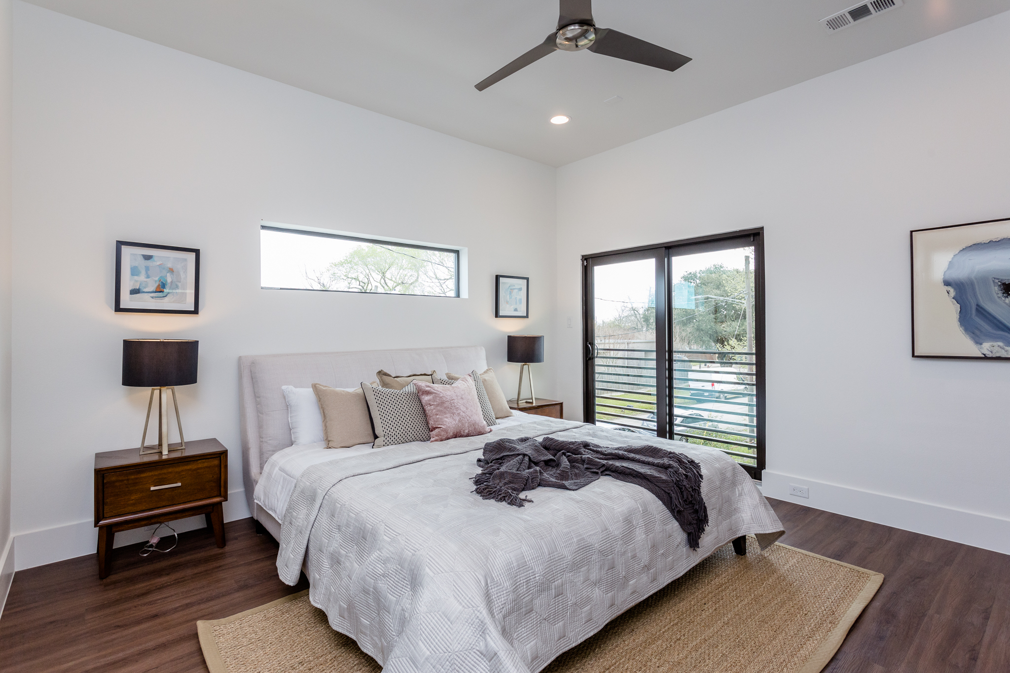 It's the sense of proportion that gives the bedroom its five-star hotel quality. You'll appreciate abundant space to fit a king bed and the Juliet balcony overlooking the generous side yard.