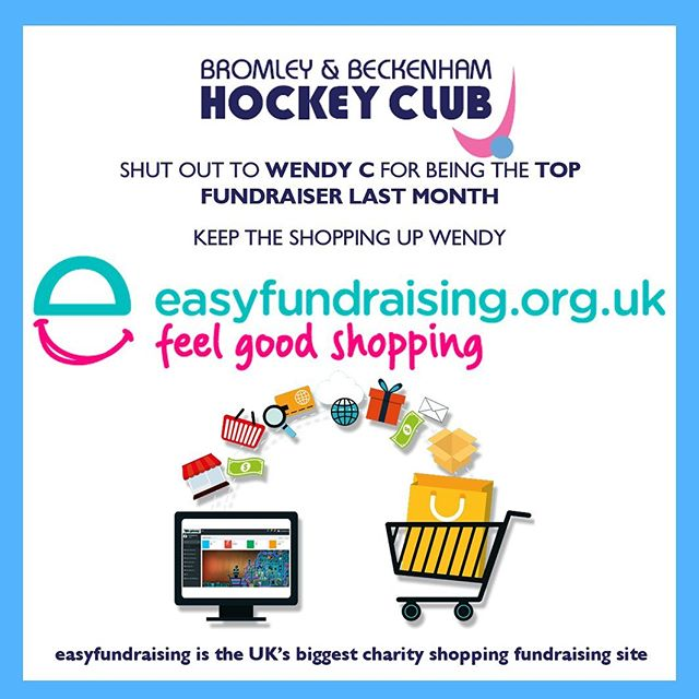 Welcome done shoppers - see it's as easy as that. Well done Wendy C.  Shopping online then don't forget to go through easy fundraising to donate to the club  https://www.easyfundraising.org.uk/causes/babhc/  Happy bargain shopping 🛍 🛒  #easyfundraising #brombeckhc #hockey #hockeyclub #fundraising #onlineshopping #raisingfunds #shopping #hockeygb #charity #sportsclubs #raisedonations #playhockey #hockeylife #hockeylove #hockeylifestyle