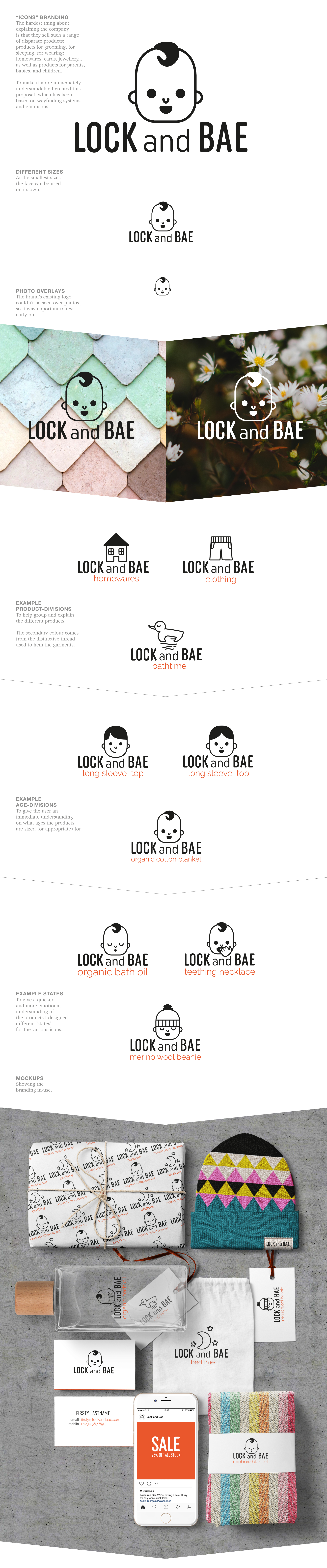 One of three first-round proposals for a family lifestyle brand, by Mister Ames