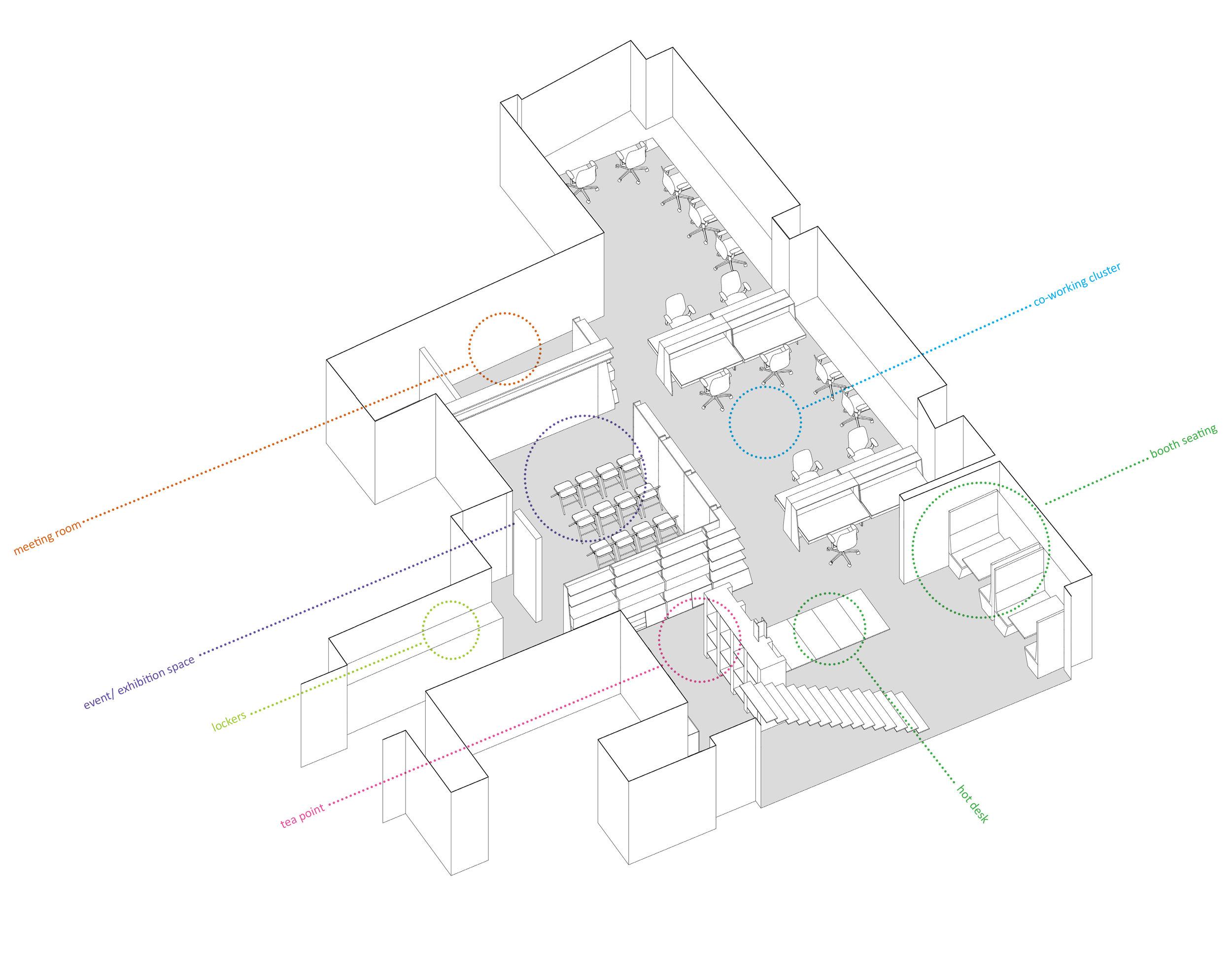 V22 Axo Lower Ground Floor
