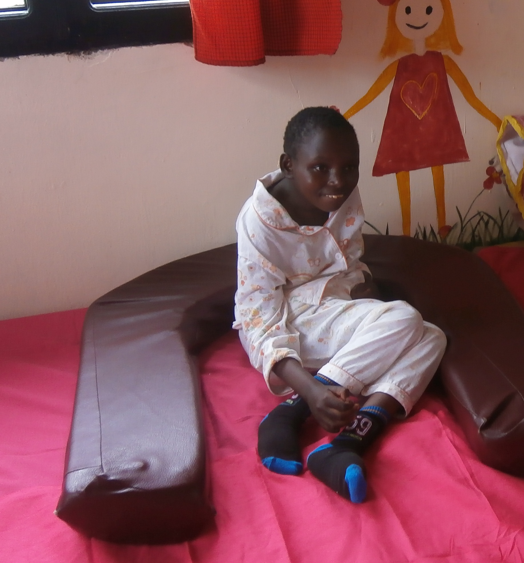 Judith was abandened by her father and no other home would admit her due to her severe disabilities.