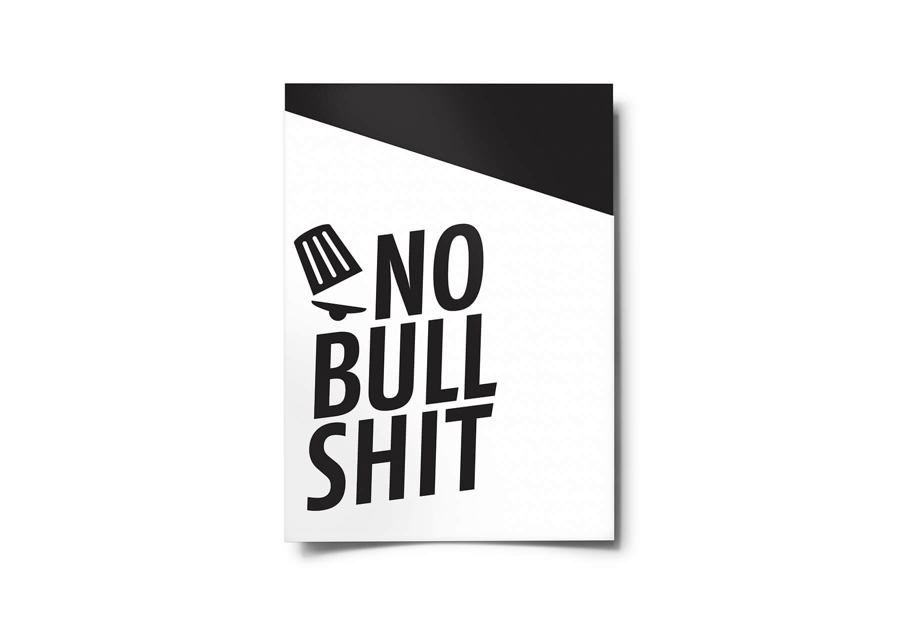 Flyer in envelop No Bullshit.jpg