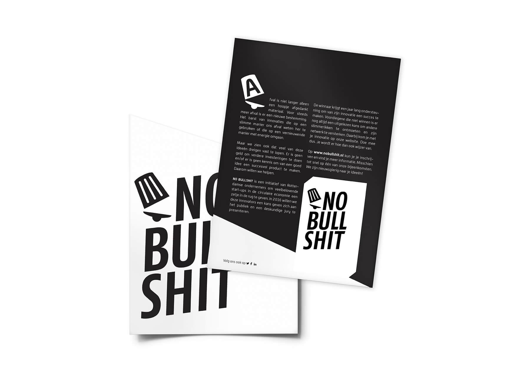 Flyer en envelop No Bullshit.jpg