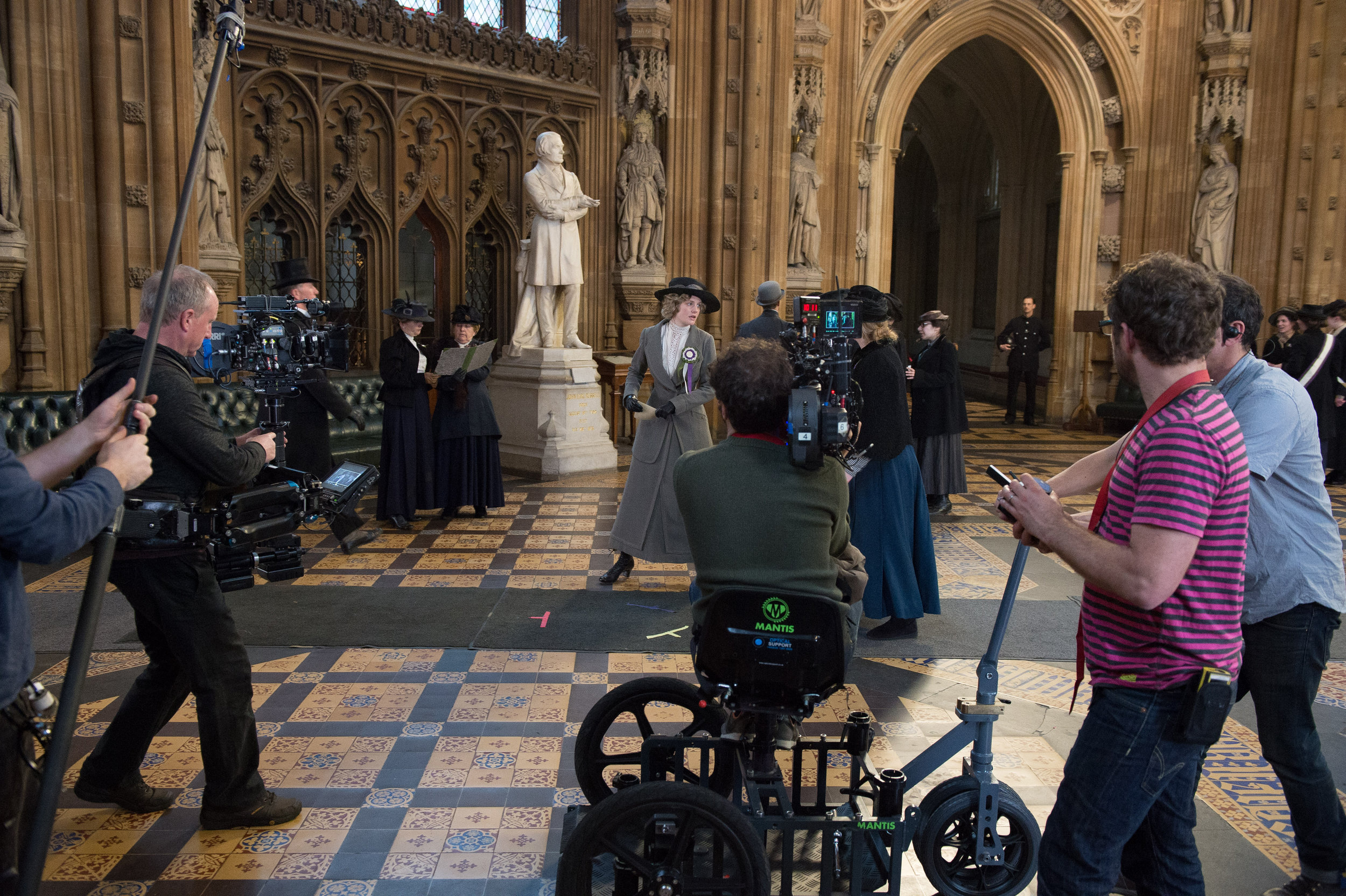Filming of the feature film Suffragette