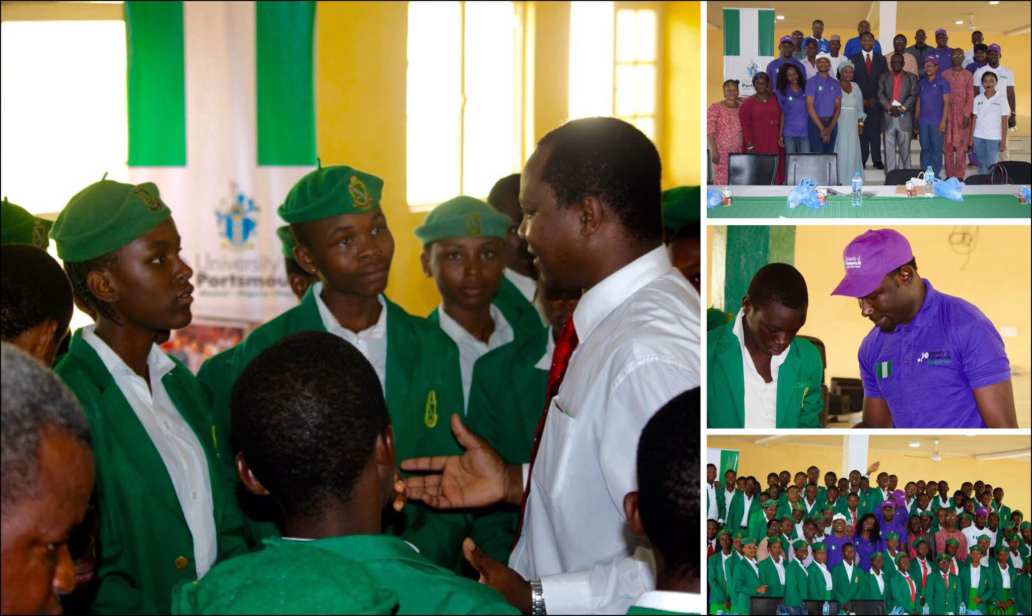 Career talks at the Federal Government Academy in Suleja, Nigeria