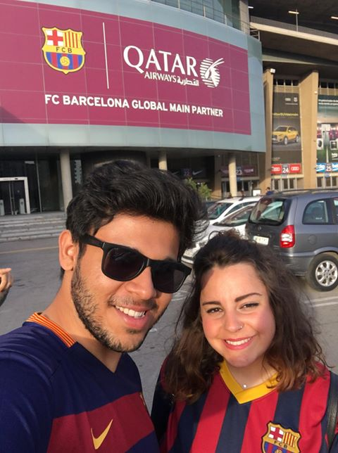 Soumyarup Roy and Carlota Rincon Munoz - ...have been together for 3 years since meeting at the University of Portsmouth when Soumyarup was studying Mechanical Engineering and Carlota did her Erasmus year in Film and Creative Writing, both graduating in 2015. They are planning on getting married soon!
