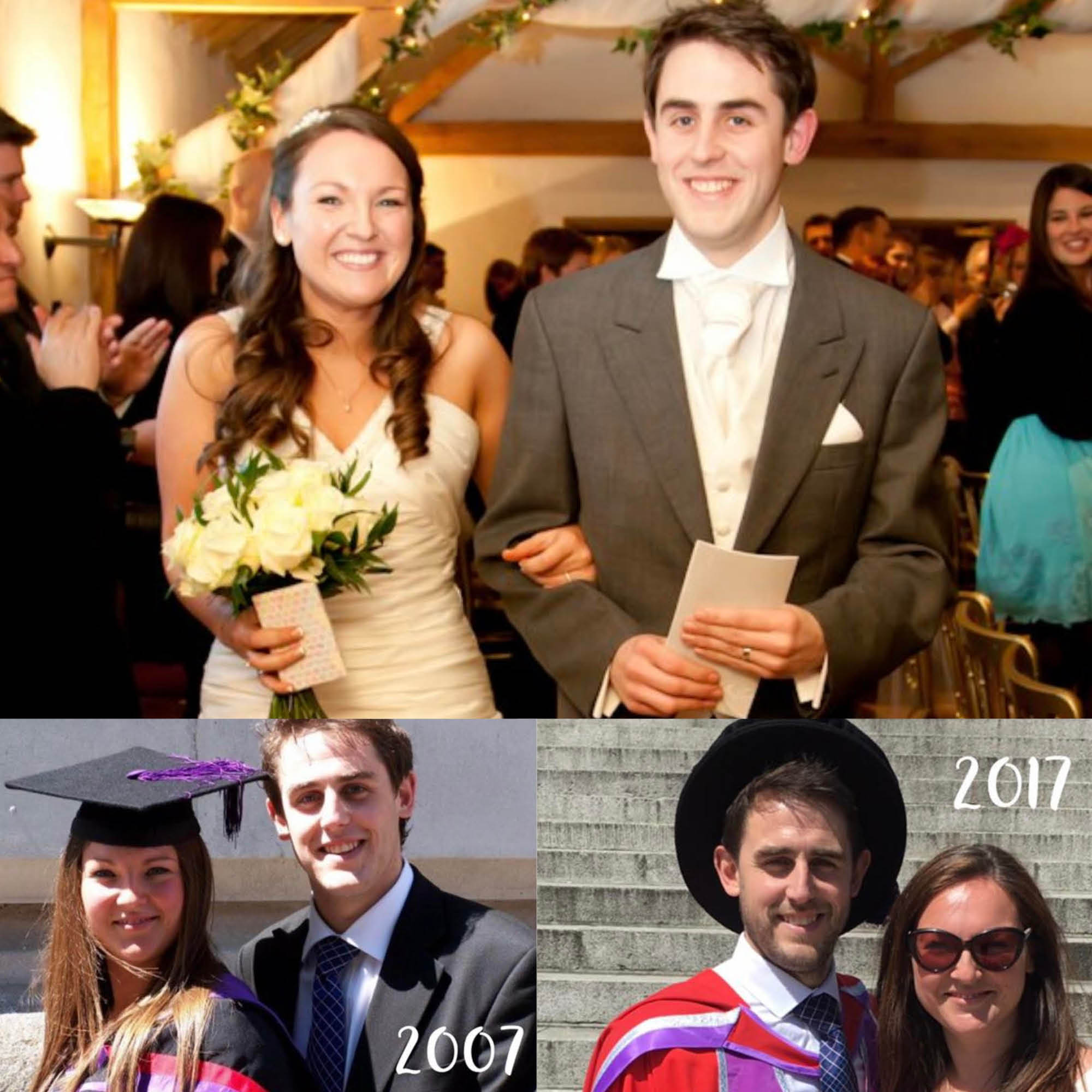 Mike and Nicole Rayner - ...have been together since 2007 after meeting in the Students' Union in 2005. Mike studied Sports Development followed by a Master's in International Human Resource Management, and a PhD in Philosophy of Science. Nicole studied Leisure Management and Marketing and graduated in 2007. They've been married for 7 years and have 3 children together!