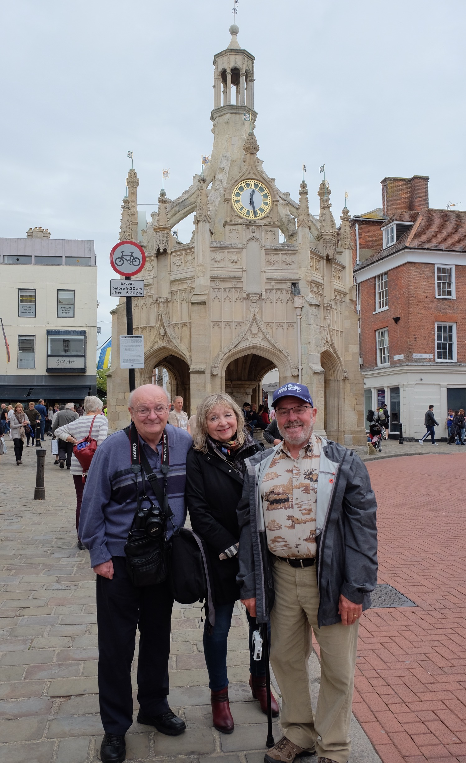 (r-l) Peter Hanley with his wife Uni and Ray Crook travelled to the reunion from North America. Peter spent many hours almost every day for the past year helping to organise the event in coordination with Derek Mottershead CREDIT: Ken Colley