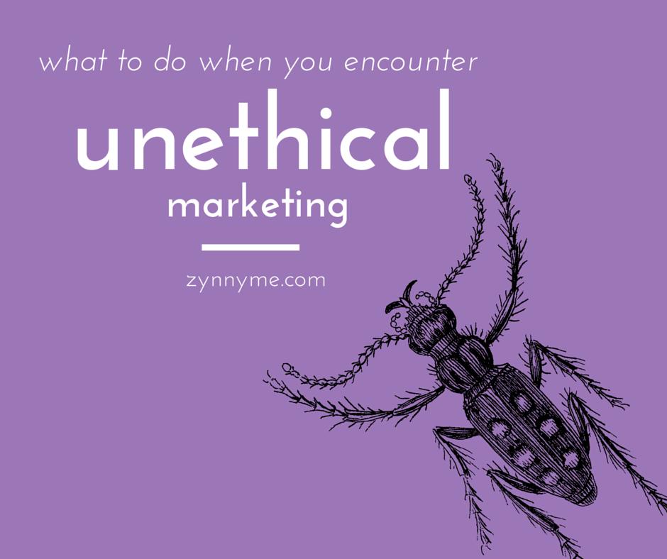 Unethical Marketing