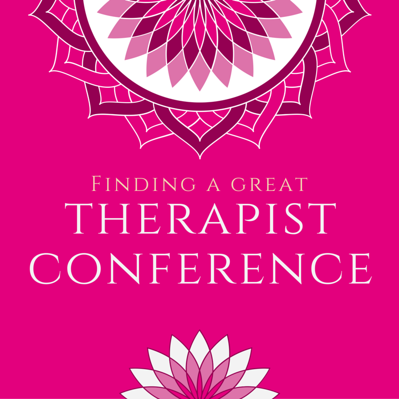 Finding a Great Therapist Conference