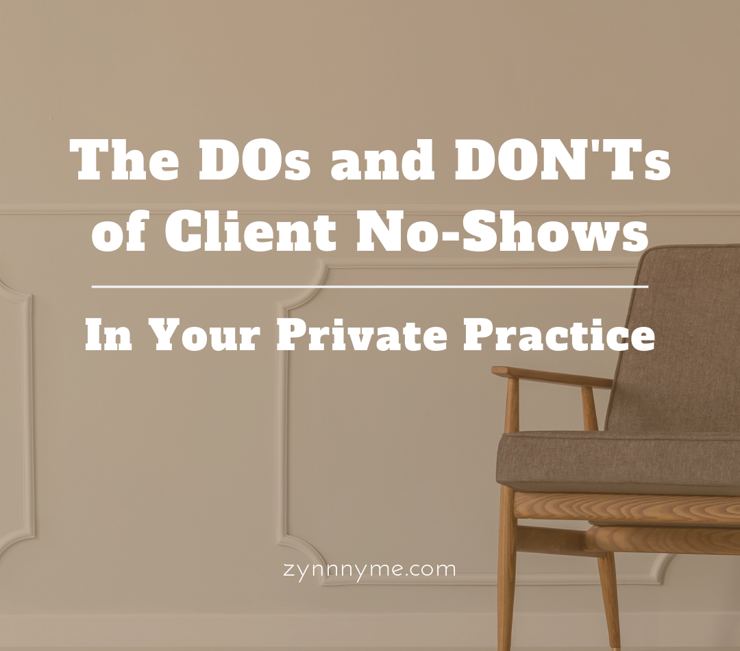 Do you have a no show policy and process that you uphold?