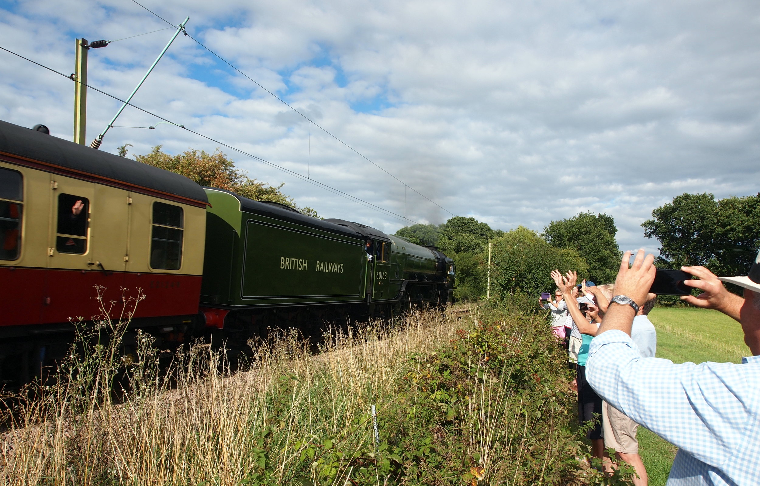 Anniversary Steam Engine on the Colchester to Walton line