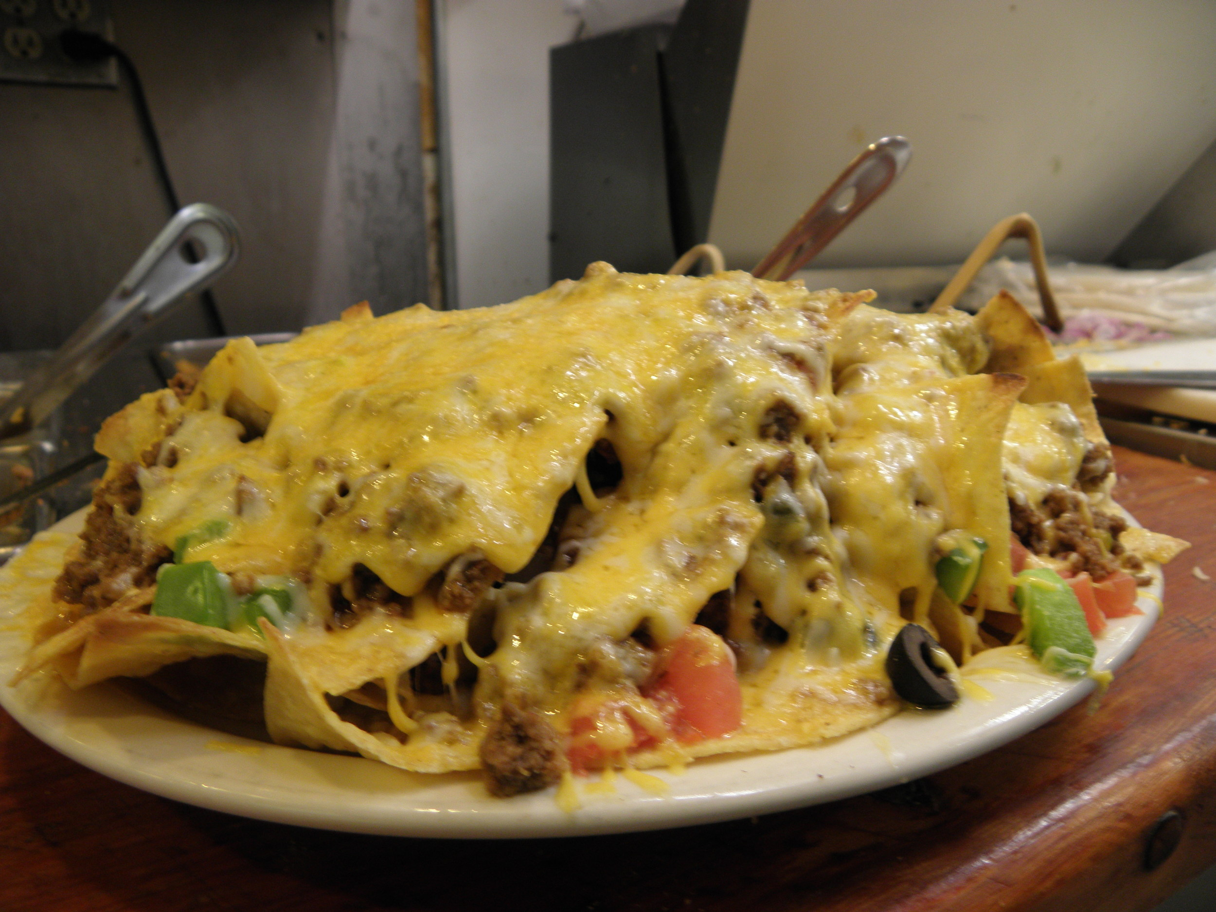 Piled high nachos!