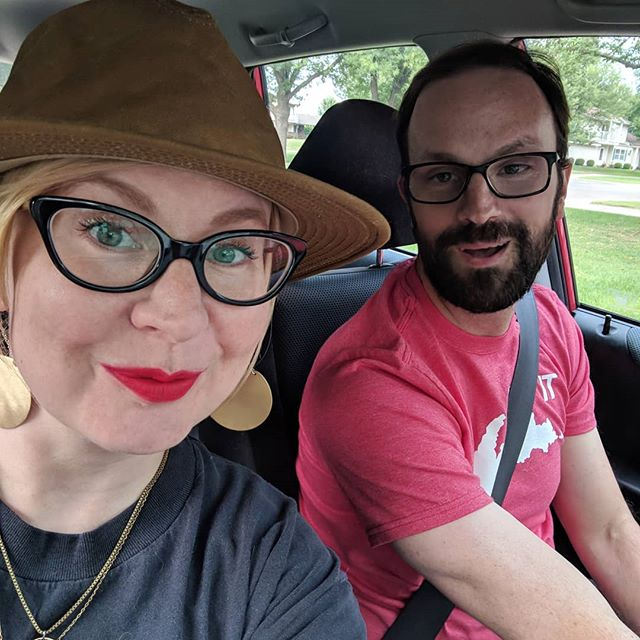 It's a yard work and movies and lipstick and Eric looking cute kinda weekend, y'all  #SaaraNEricAtHomeEdition  #FilsonHat