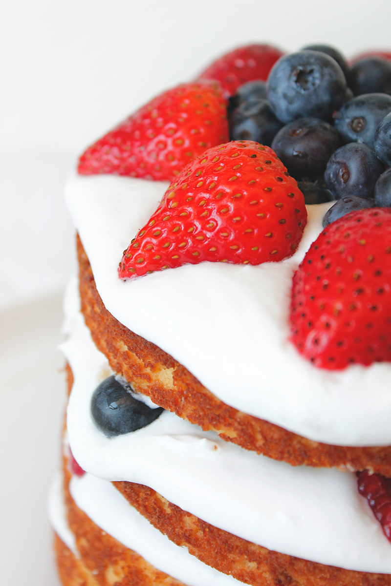 Fourth of July Paleo Berry Cake