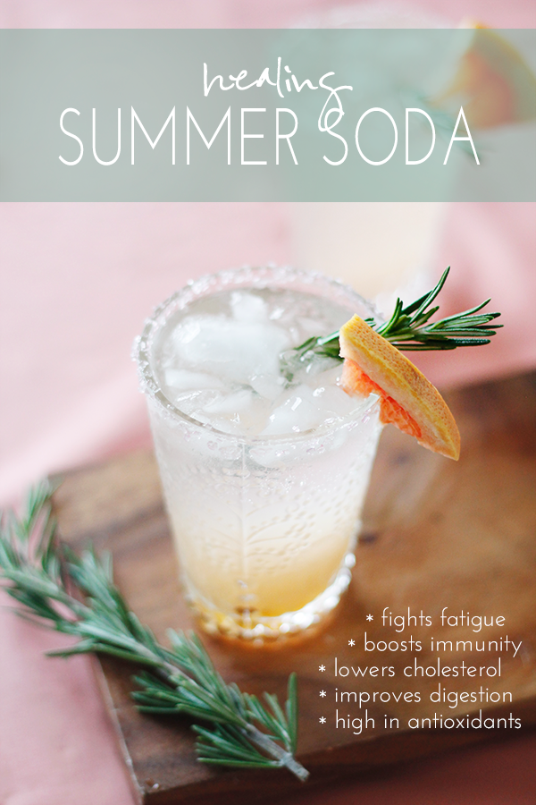 healing rosemary grapefruit soda recipe